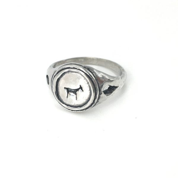 Bau Animal Signet Ring