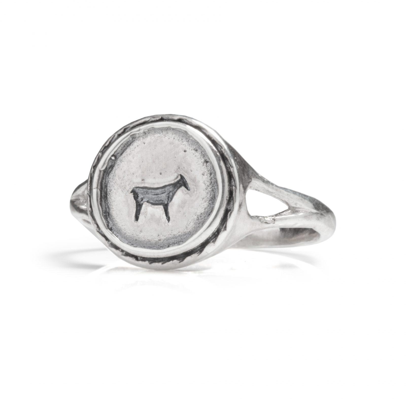 Boodi Jewellery BAU ANIMAL SIGNET RING SILVER - Boodi Jewellery