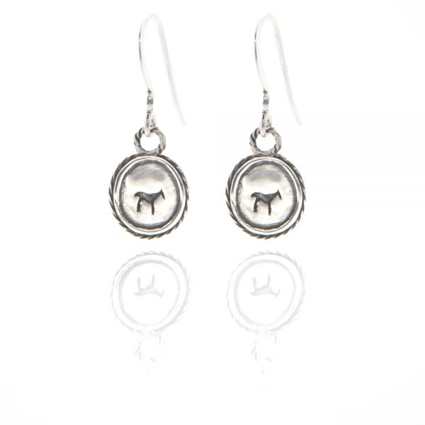 silver bau animal earrings
