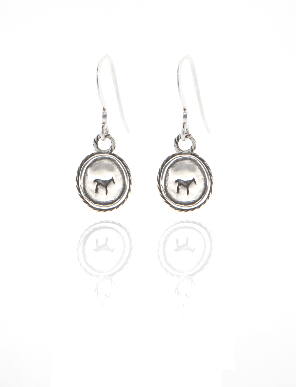 silver bau animal earrings