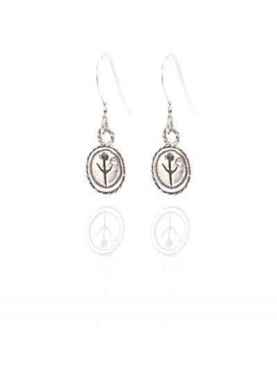 silver empanda symbol earrings