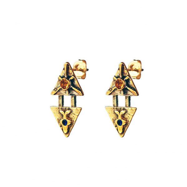 orca whale earrings