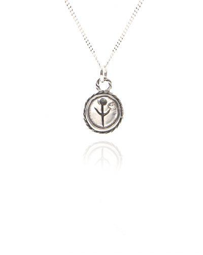 silver empanda symbol necklace