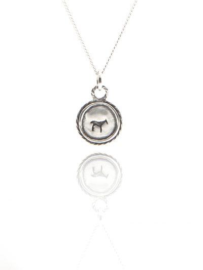 silver bau animal necklace