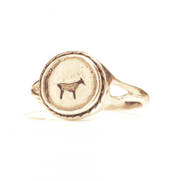 animal signet ring
