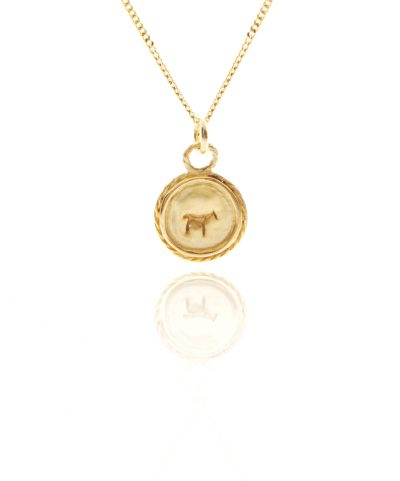 gold bau animal necklace
