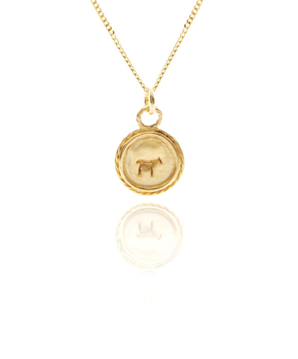 gold bau animal necklace