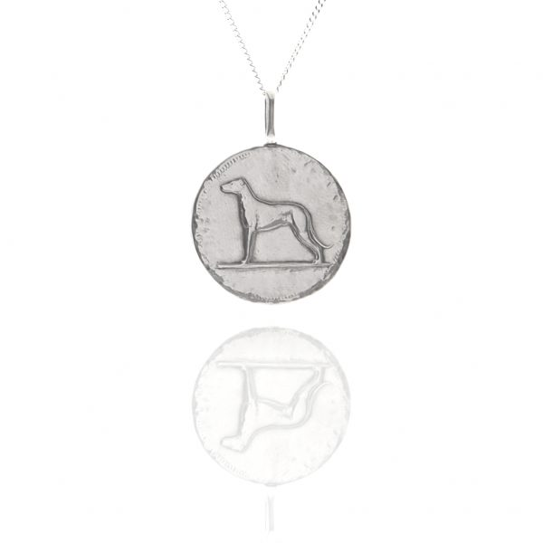 dog coin pendant