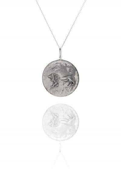 lion coin pendant