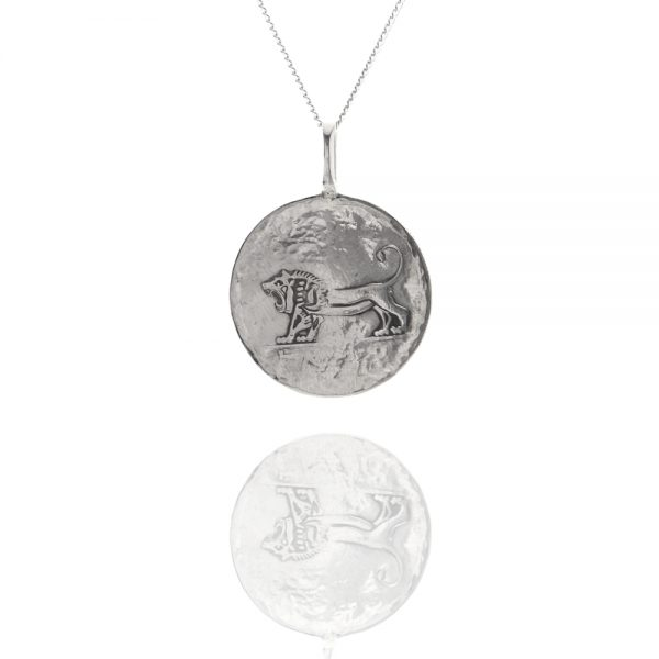 lion coin pendant