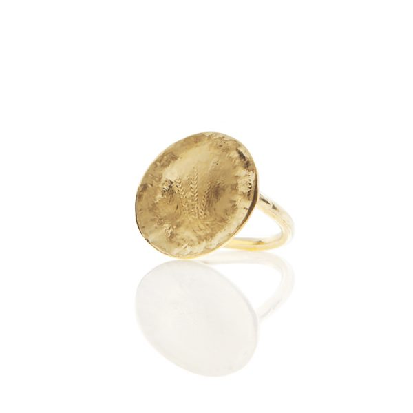 Wheat coin ring