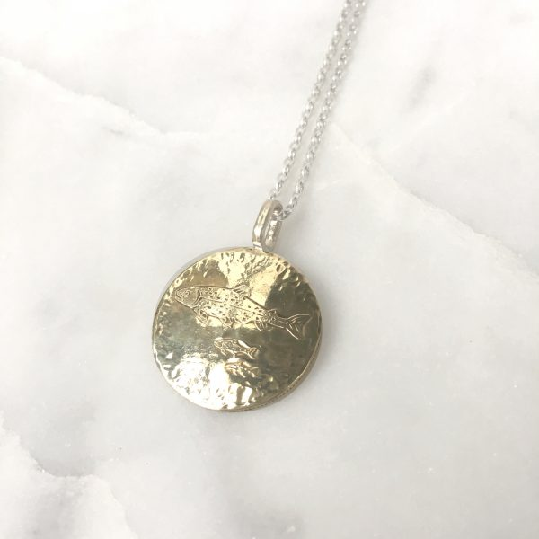 fish coin pendant