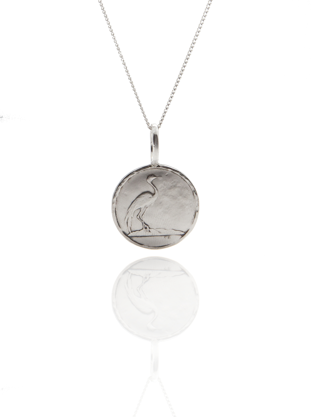 bird coin pendant