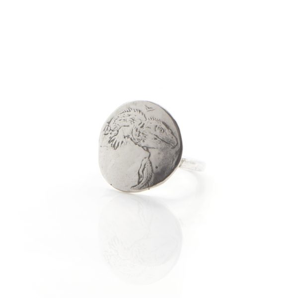 Lizard coin ring