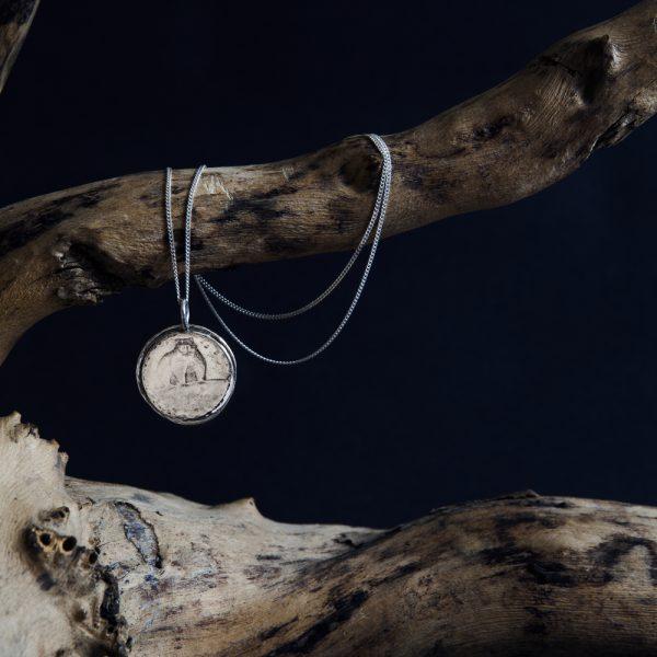 Moon Bear Animal pendant
