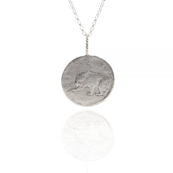 bear coin pendant