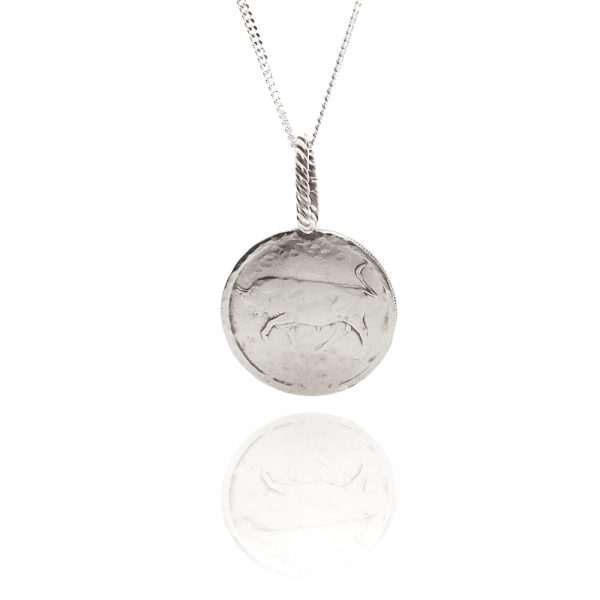 bull coin necklace
