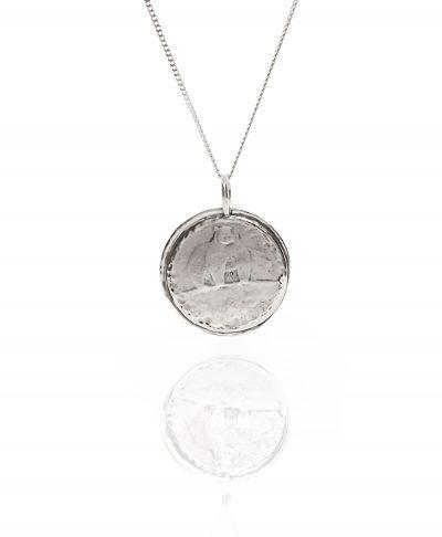 moon bear coin pendant