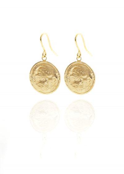 possum coin earrings