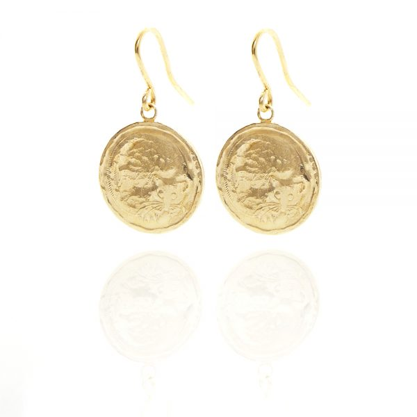 possum coin earrings