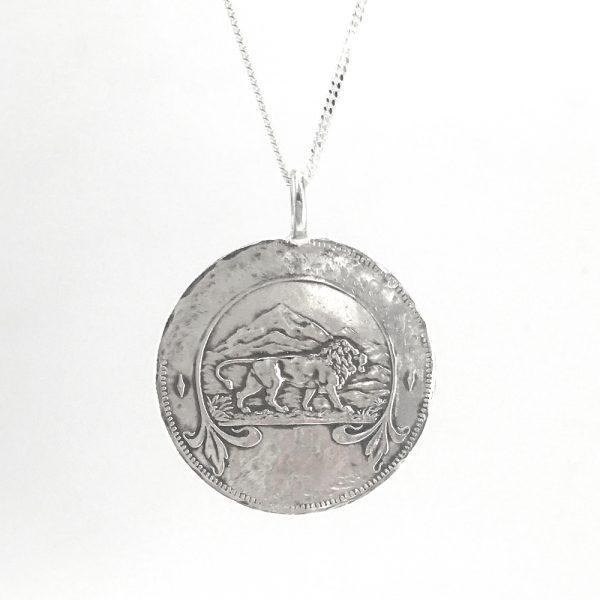 lion coin necklace