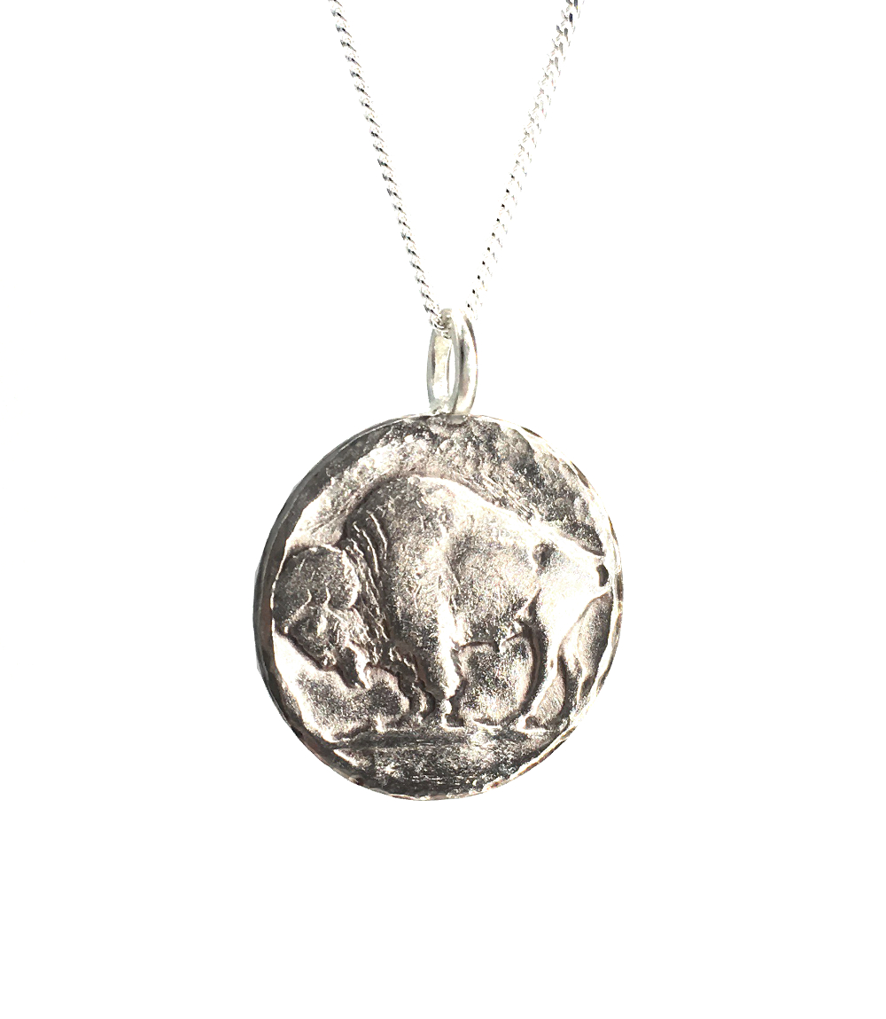 buffalo coin necklace