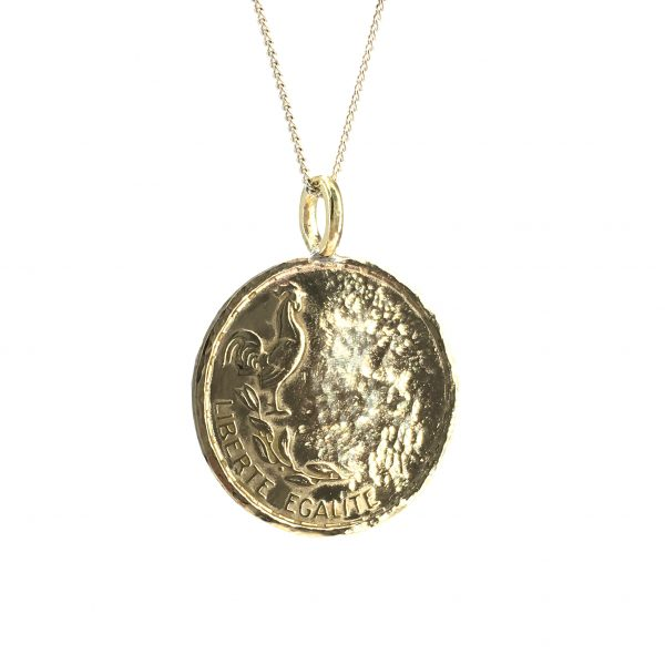 cockerel coin necklace
