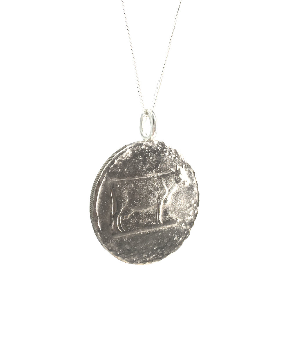 cow coin necklace