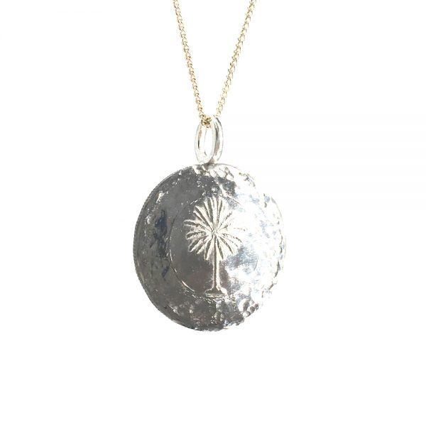 palm tree coin necklace