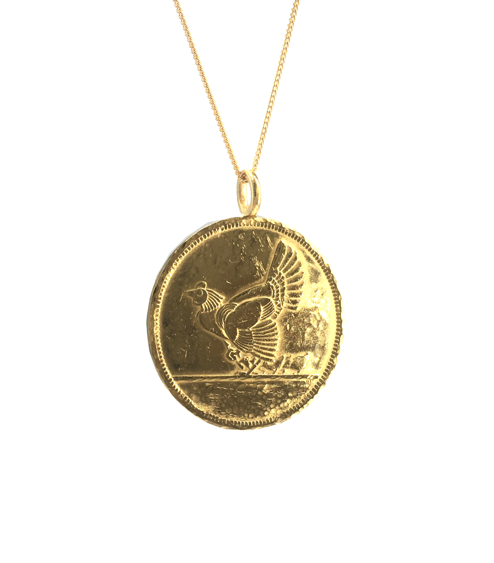 turkey coin necklace