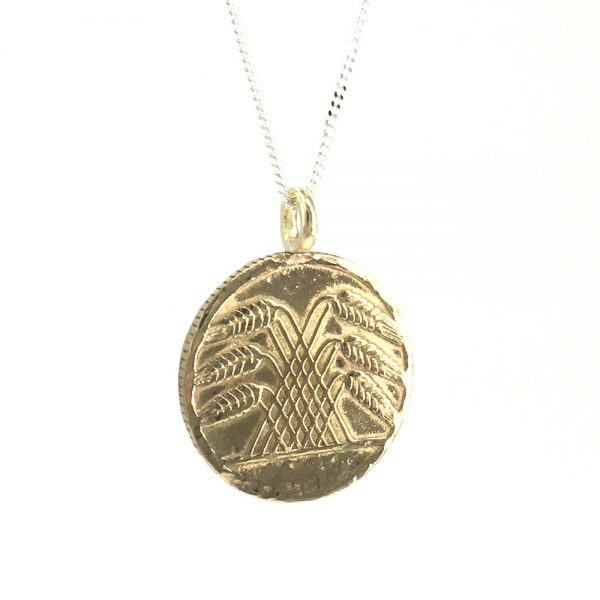 wheat pyramid coin necklace
