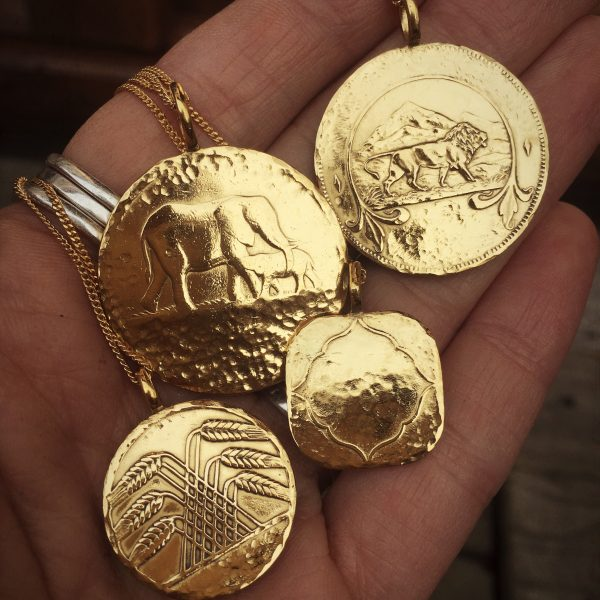 elephant coin necklace