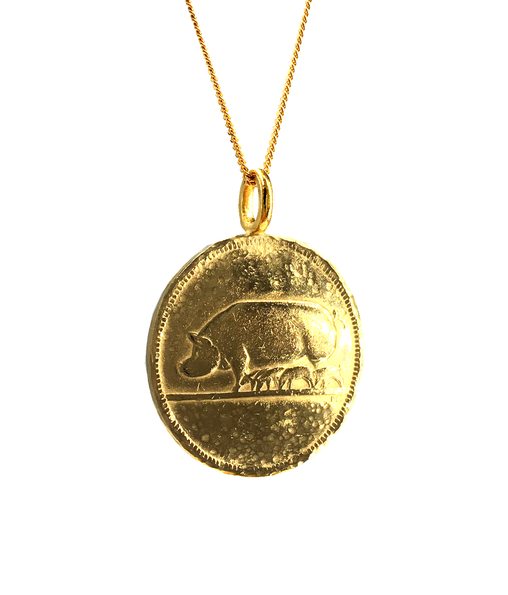 pig coin necklace