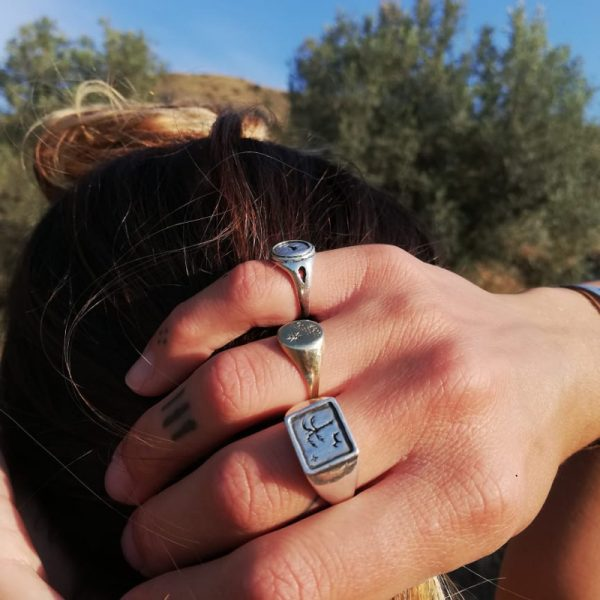 Wild and free signet ring