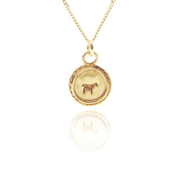 bau animal charm necklace