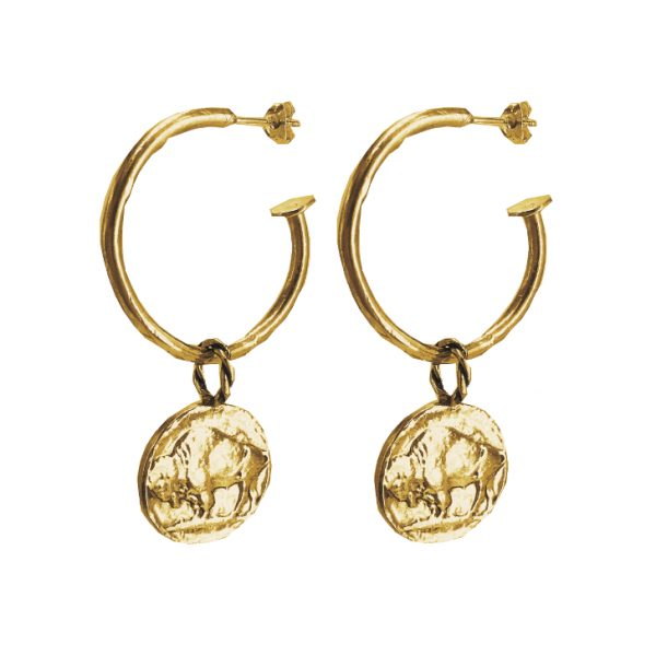 Buffalo Coin Hoops
