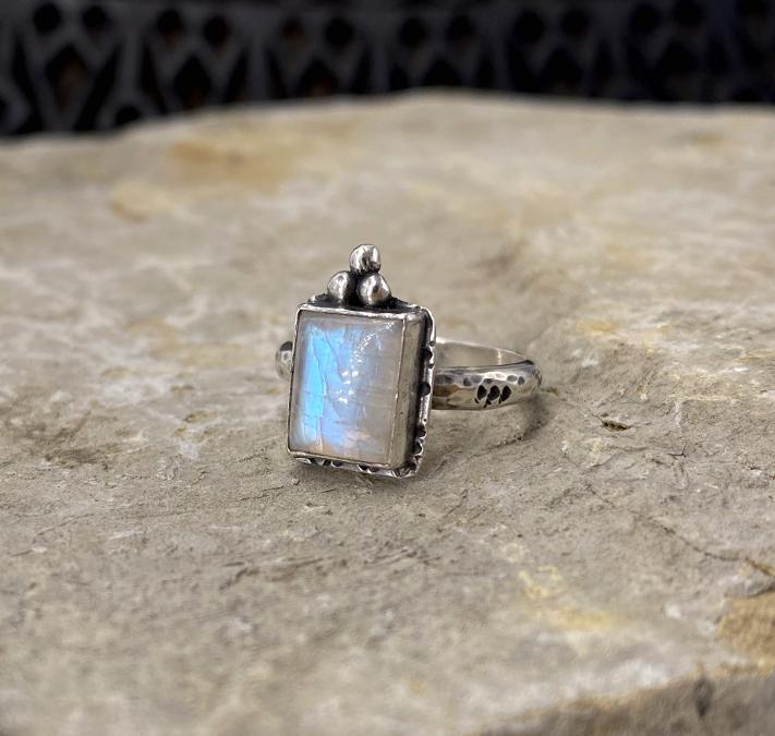 India Moon ring