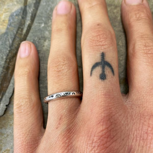 Hand Stamped Band Ring